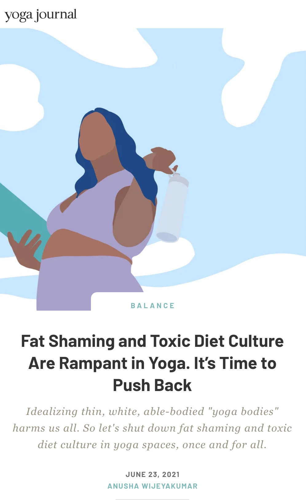 Fat Shaming and Toxic Diet Culture in Yoga