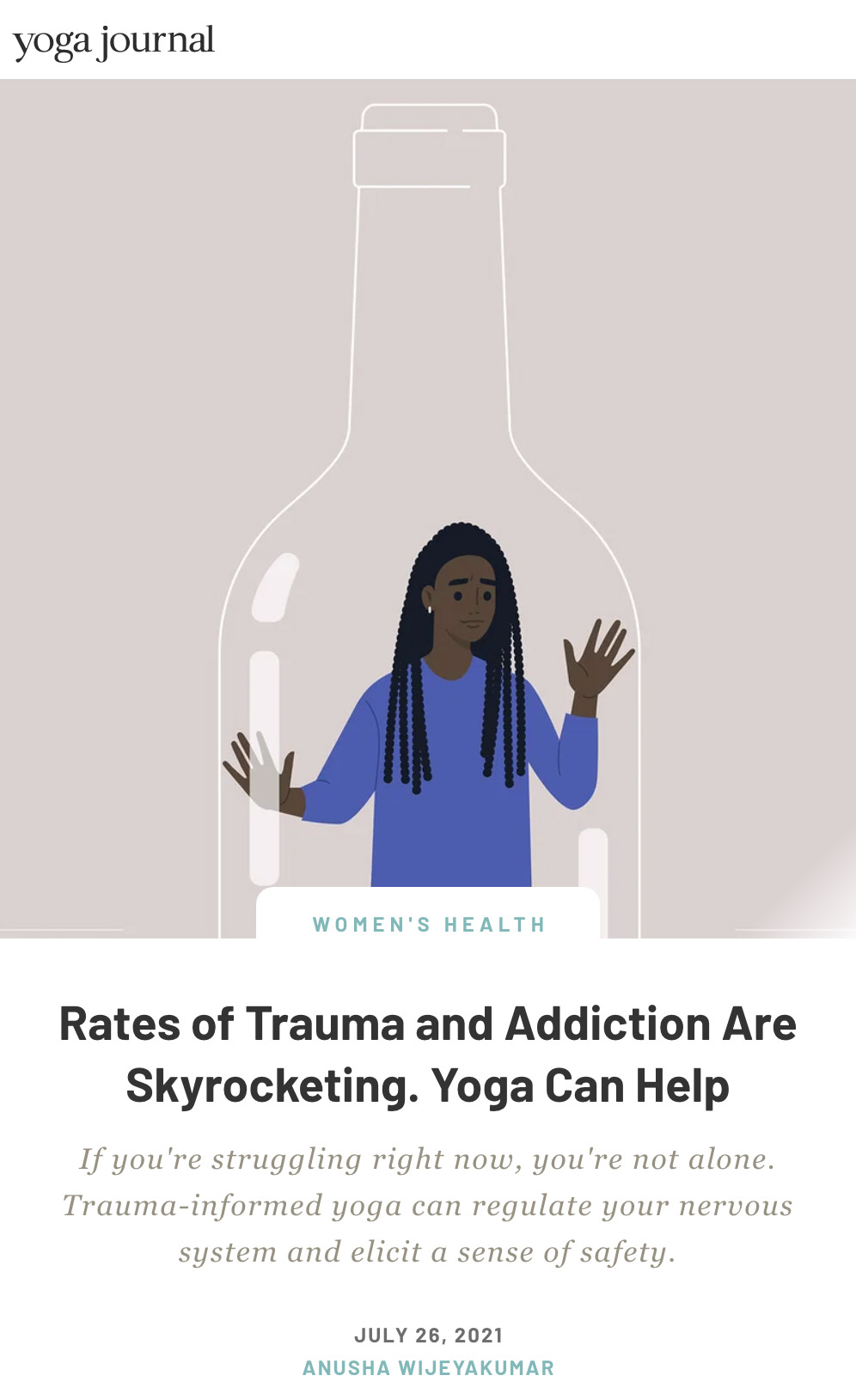 Rates of Trauma and Addiction Are Skyrocketing. Yoga Can Help